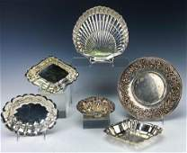 LOT 7 Sterling Silver Nut Servers Tray Total 1378g