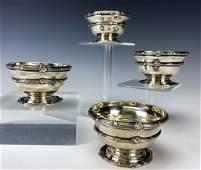 4 Sterling Silver Lionel Alfred Crichton Nut Bowls