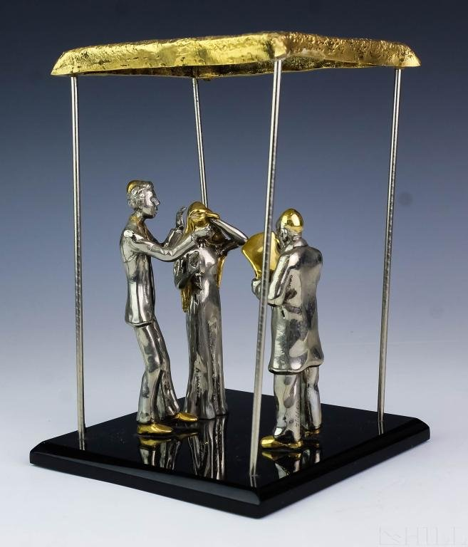 Yaacov Heller Judaica Wedding Figurine Sculpture