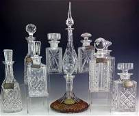 Tiffany Waterford Sterling Decanter Set 10 Piece