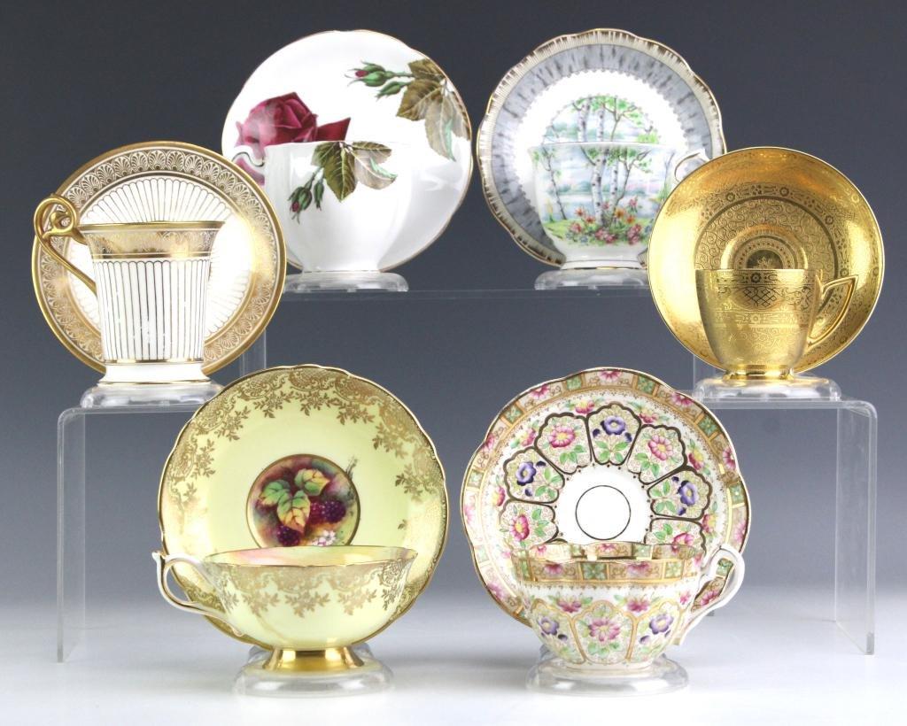 LOT 6 Cups and Saucers Royal Albert Minton Paragon