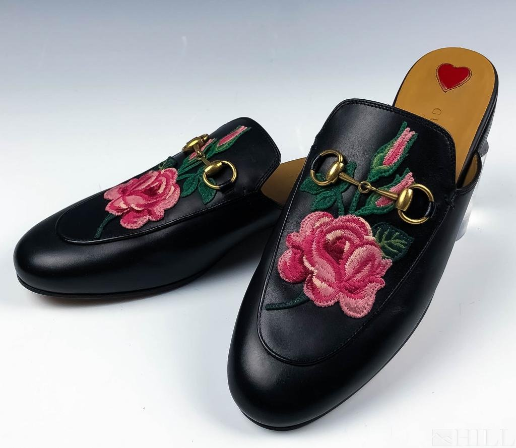 Gucci Princetown Bloom Floral Slipper Shoes Size 7