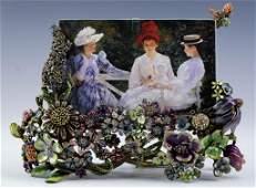 Jay Strongwater Enamel 4x6 Field Of Flowers Frame