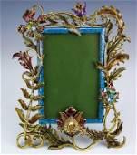 Jay Strongwater Enameled  Embellished Frame 4x6