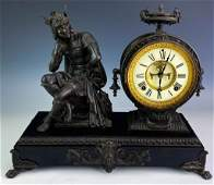 Ansonia 19th Century Figural Bronze Mantle Clock