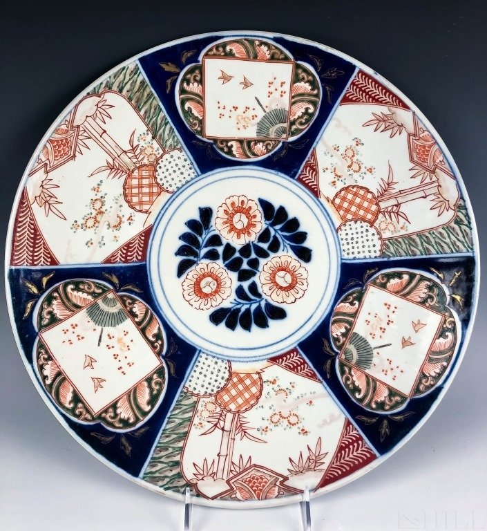 Monumental Chinese Export Imari Porcelain Charger