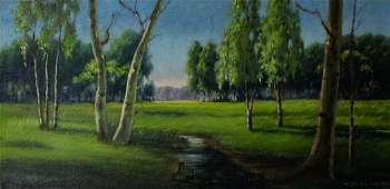 Joan Melnick 1942- American Landscape Oil Painting