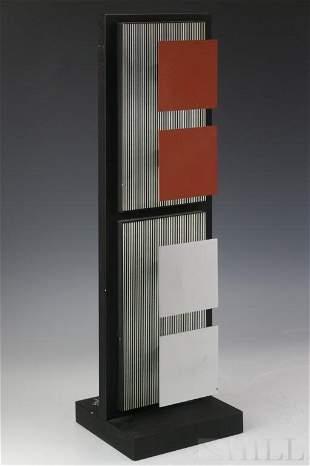 Mid Century Modern Op Art LE Sculpture
