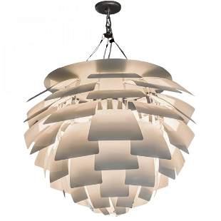 """Poul Henningsen MCM Artichoke Lamp 35"""" Chandelier"""