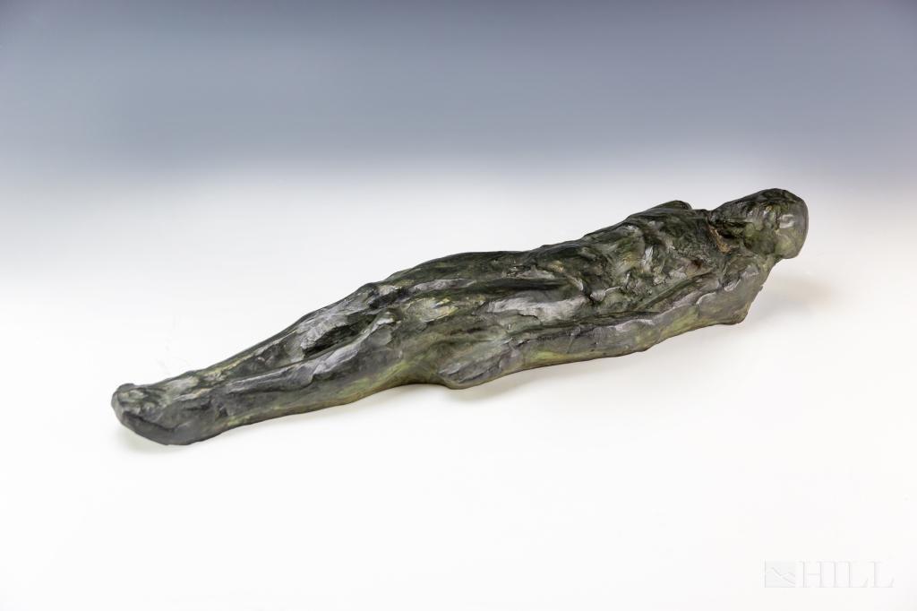 Mystery Artist Bronze Modern Nude Male Sculpture
