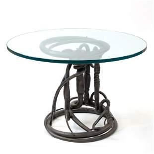 Albert Paley b.1941 Abstract Metal Sculpture Table