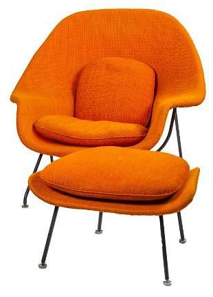 Eero Saarinen for Knoll Womb Chair and Ottoman VTG