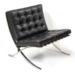 Knoll Mies Van Der Rohe Black Barcelona Chair