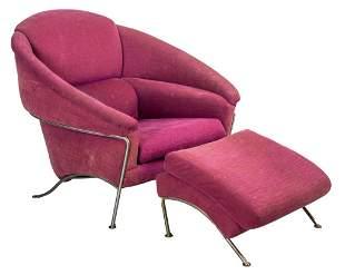 Milo Baughman Thayer Coggin Lounge Chair w Ottoman