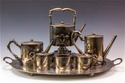 8 Pc Vintage Mexico Sterling Silver Tea Set 2948g