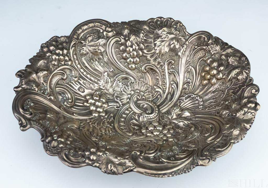 Gorham Sterling Silver Repousse Footed Centerpiece