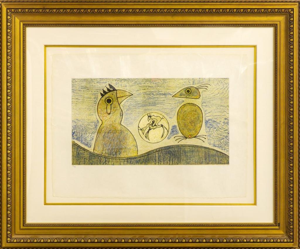 Max Ernst Deux Oiseaux L/E 81/99 Lithograph Japon