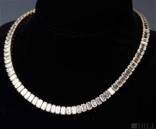 Stunning 18k Gold 50 CTTW Diamond Choker Necklace