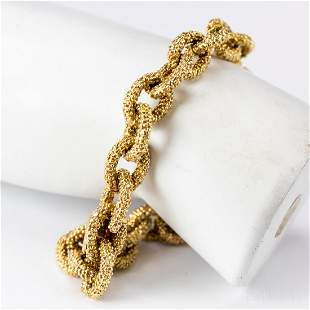 "VCA Van Cleef & Arpels 18k Gold Anchor Bracelet 8"""