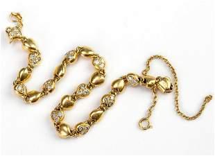 Cartier 18k Yellow Gold & Diamond Heart Bracelet