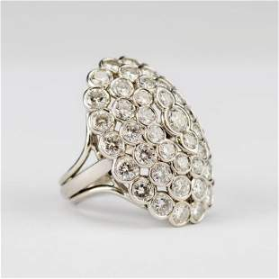 Cartier Platinum 6.8 CTTW Diamond Cluster Ring VTG