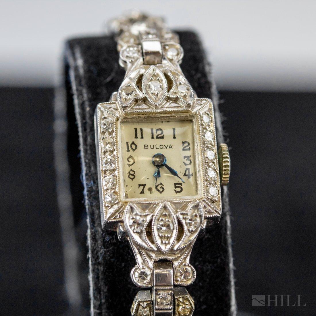 Platinum & Diamond Bulova Ladies Cocktail Watch