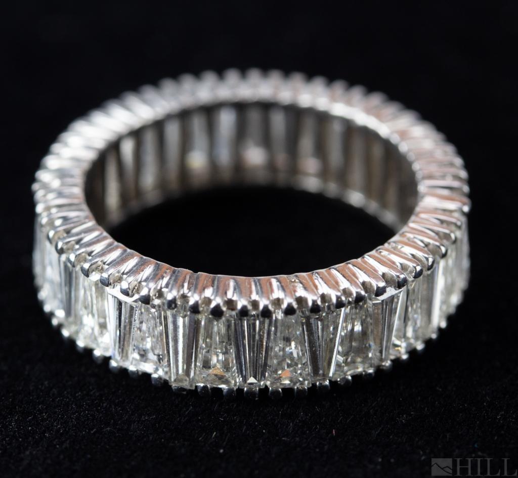 Platinum 6 CTTW Diamond Eternity Band Ring S 6 1/4