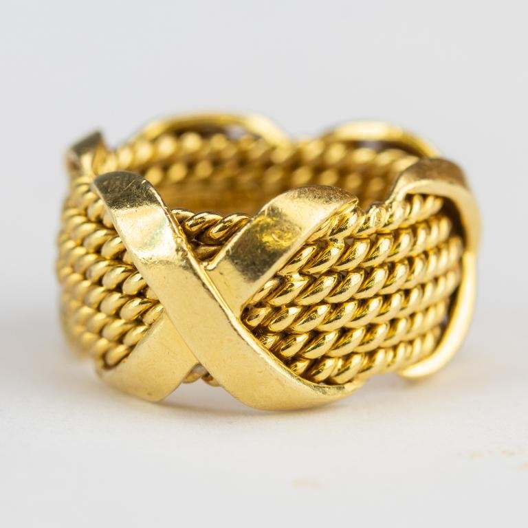 Tiffany & Co. Schlumberger 18k Gold Band Ring VTG