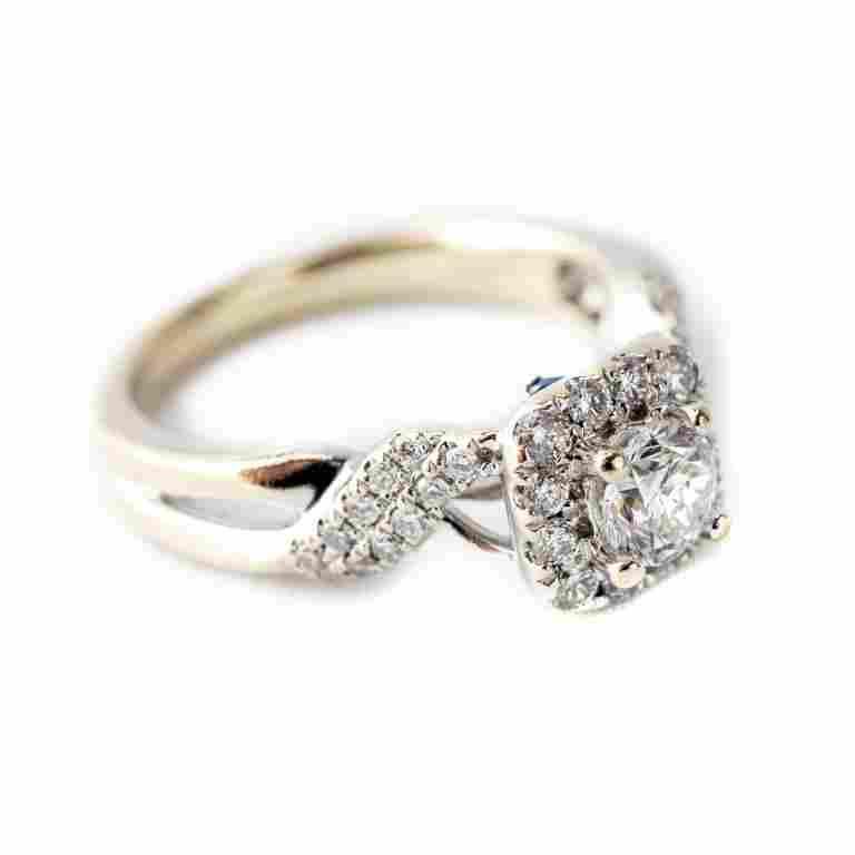 Vera Wang 14k White Gold .75 CTTW Diamond Ring