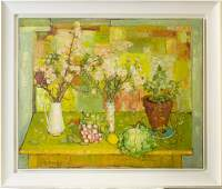 Andre Vignoles 1920-2017 Still Life Oil Painting