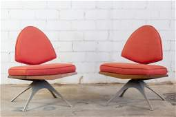 Pair of Mid Century Space Age Modern Leaf Chairs