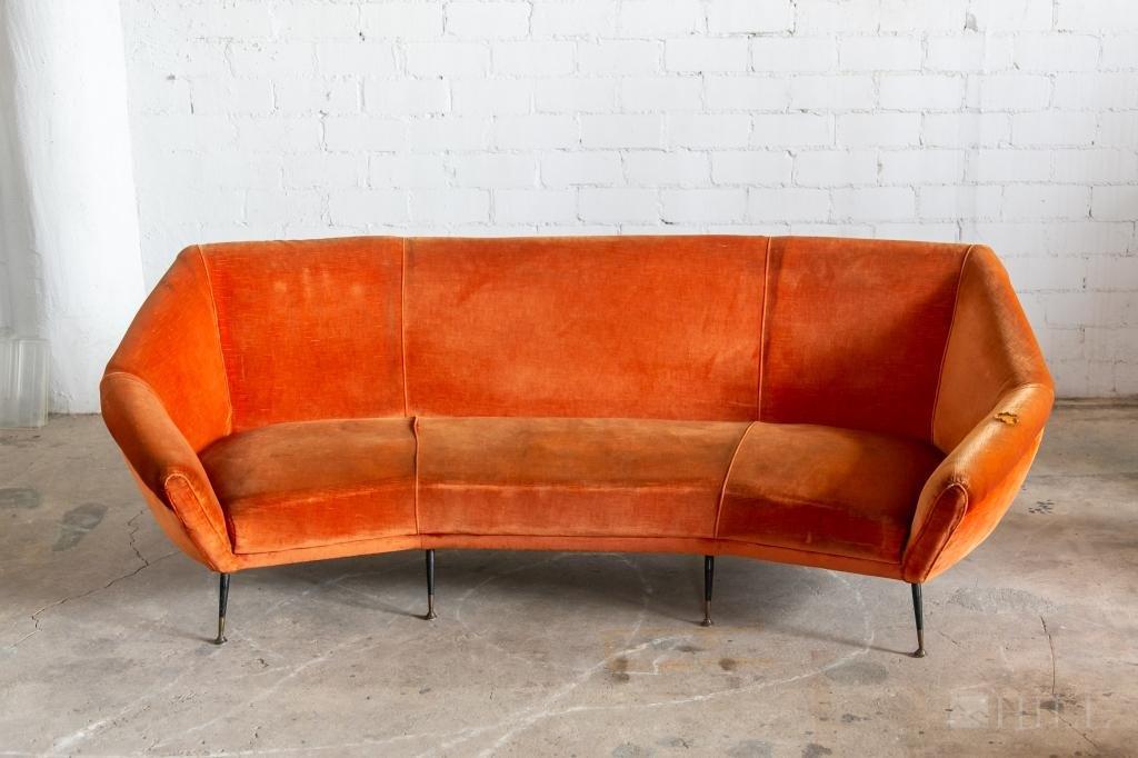 Gio Ponti Italian Mid Century Modern Sofa Couch