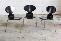 3 Arne Jacobsen Fritz Hansen Modern Side Chairs