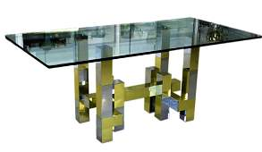 "Paul Evans Style Modern ""Cityscape"" Dinning Table"