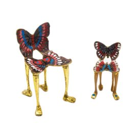 Pedro Friedeberg (Mexican, b1936) Butterfly Chairs