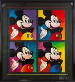 Peter Max Disney 4pc Mickey Mouse Serigraph SIGNED