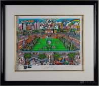 Charles Fazzino  Dan Marino NFL Football 3D Art