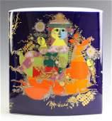 Bjorn Wiinblad Rosenthal Cobalt Blue Floral Vase