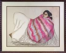 R C Gorman (1932-2005) American Indian Lithograph