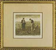 after Jean F Millet Angelus  Gleaners 2 Drawing