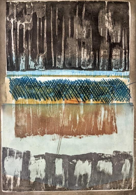 Abstract Contemporary A/P Lithograph Litho SIGNED