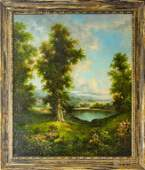 Mystery Art Forest Landscape Oil Canvas Painting