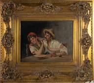 Ciro Cozzoline Italian 1876-1946 Portrait Painting