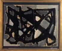 Afro Basaldella Abstract Mixed Media Painting
