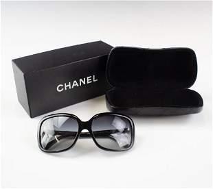 Chanel 5171 Italian Black White Bow Tie Sunglasses