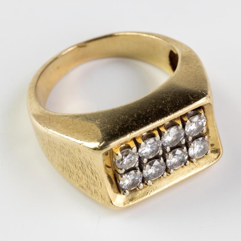 Vintage Men's 14k Gold 1 CTTW Diamond Pinky Ring