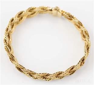 Mario Buccellati 18k 750 Yellow Gold Weave Bracelet