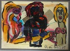 Peter Keil B.1942 Jagger, Turner & Monroe Painting