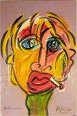Peter Keil (German B1942) Andy Warhol Oil Painting