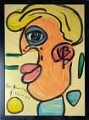 Peter Keil German B1942 Donald Trump Painting